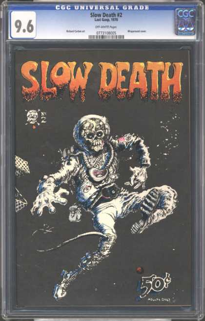 CGC Graded Comics - Slow Death #2 (CGC) - Slow Death - Skull - 50 Cents - Mangled Body - Decomposing