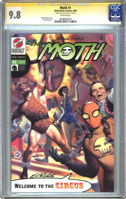 CGC Graded Comics - Moth #1 (CGC) - Welcome To The Circus - Man Of Strength - Canon - Dwarf - Ringmaster