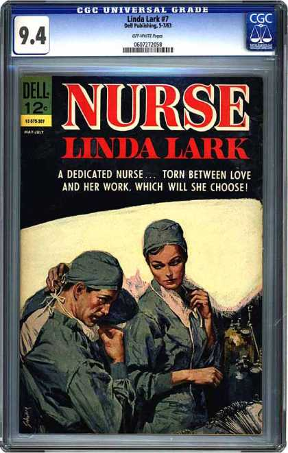 CGC Graded Comics - Linda Lark #7 (CGC) - Operating Room - Love - Dedicated - Work - Choose