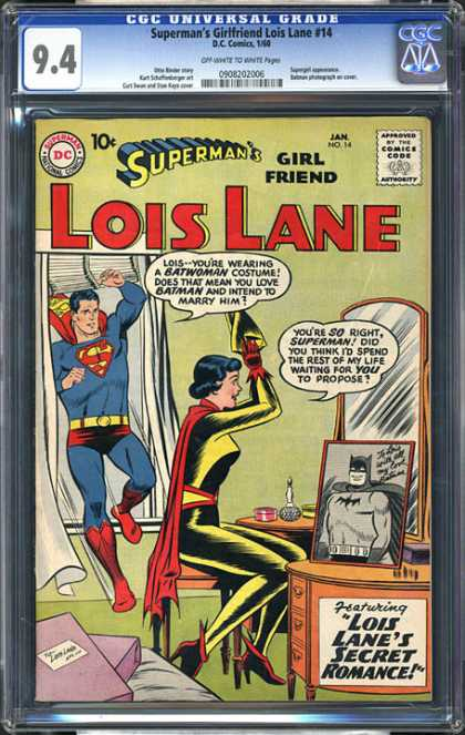 CGC Graded Comics - Superman's Girlfriend Lois Lane #14 (CGC)
