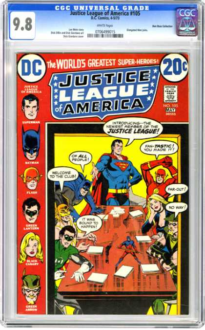 CGC Graded Comics - Justice League of America #105 (CGC)