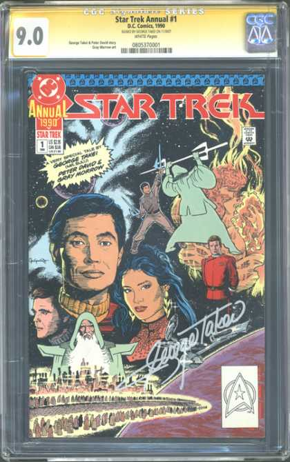 CGC Graded Comics - Star Trek Annual #1 (CGC) - Star Trek - George Takei - Peter David - Gray Morrow - Star Swords