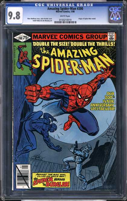 CGC Graded Comics - Amazing Spider-Man #200 (CGC) - Marvel - 75 Cents - Spider-man - Spiderweb - Superhero