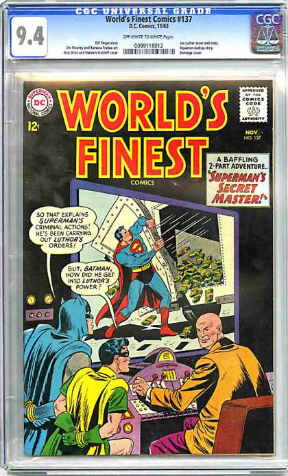 CGC Graded Comics - World's Finest Comics #137 (CGC) - Dc - Superman - Robin - Batman - Money