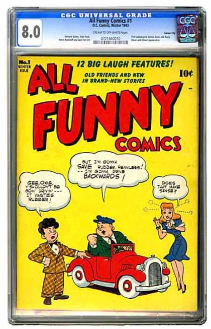 CGC Graded Comics - All Funny Comics #1 (CGC) - 12 Big Laugh Features - Old Friends And New In Brand- New Stories - 10c - No 1 - Winter Issue
