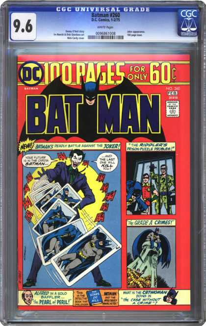 CGC Graded Comics - Batman #260 (CGC) - Batman - Feb Edition - Riddlers - Grade A Crimes - Pearl Of Peril