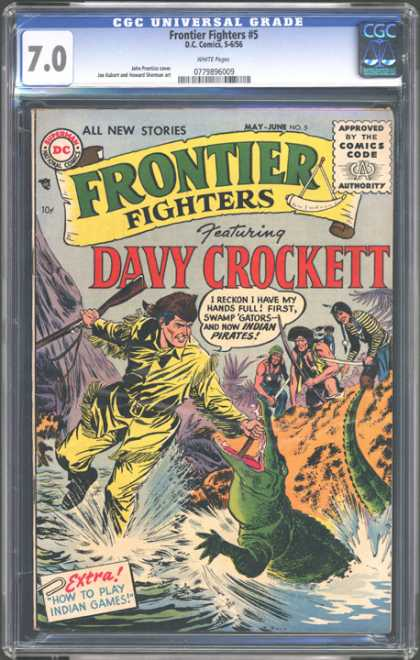 CGC Graded Comics - Frontier Fighters #5 (CGC) - Frontier Fighters - Dc Comics - Dc - Superman - Approved By The Comics Code Authority