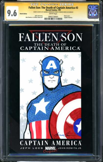 CGC Graded Comics - Fallen Son: The Death of Captain America #3 (CGC) - Fallen Son - Death - Captain America - Mask - Superhero