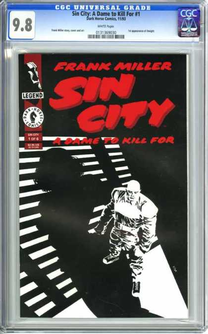 CGC Graded Comics - Sin City: A Dame to Kill For #1 (CGC) - Cgc Universal Grade - Frank Miller - Sim City - A Fame To Kill For - Legend