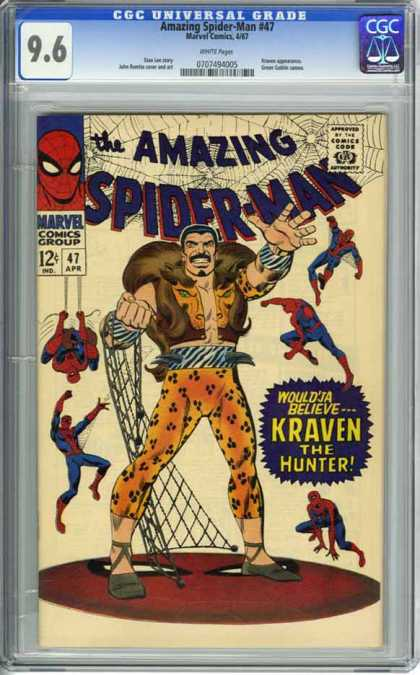 CGC Graded Comics - Amazing Spider-Man #47 (CGC) - Marvel - 47 - Kraven - Net - Hunter