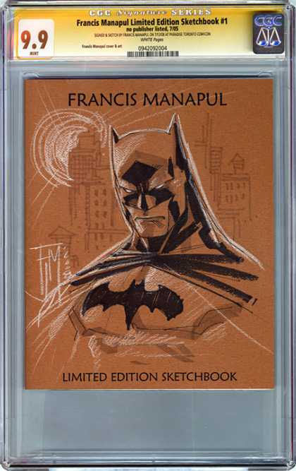 CGC Graded Comics - Francis Manapul Limited Edition Sketchbook #1 (CGC) - Francis Manapul - Batman - City - Scetchbook - Night