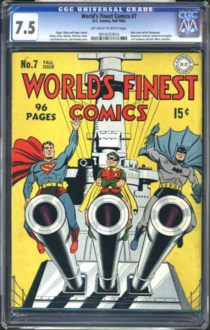 CGC Graded Comics - World's Finest Comics #7 (CGC) - No 7 - Fall Issue - Batman - Robin - Superman