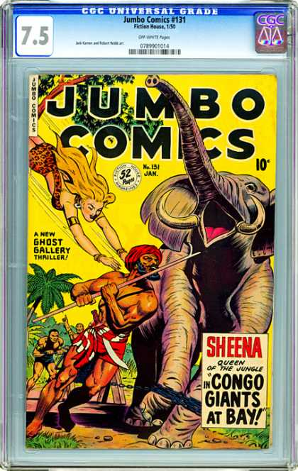 CGC Graded Comics - Jumbo Comics #131 (CGC) - Jungle Queen