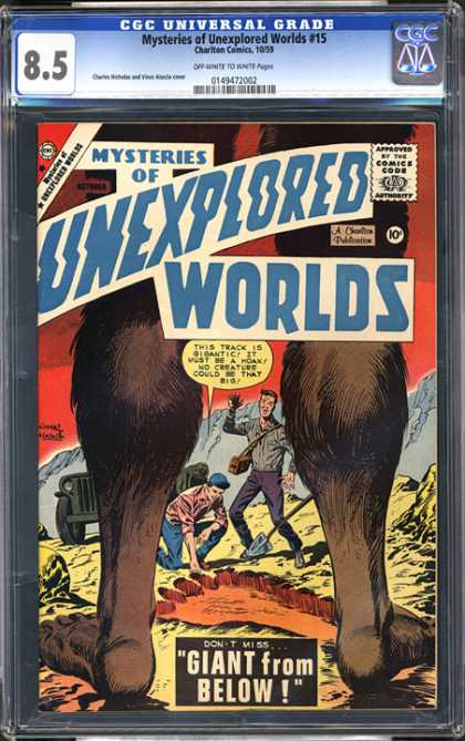 CGC Graded Comics - Mysteries of Unexplored Worlds #15 (CGC)