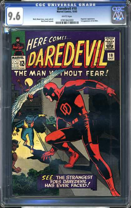 CGC Graded Comics - Daredevil #10 (CGC) - Dardevil - Marvel - Pop Art - The Man Without Fear - Approved By Comics Code