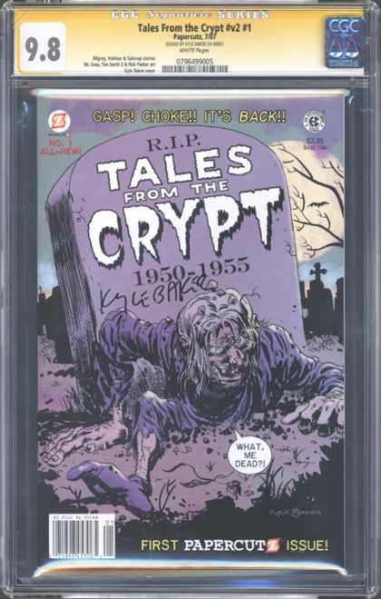 CGC Graded Comics - Tales from the Crypt #v2 #1 (CGC) - Gasp Choke Its Back - Zombie - Want Me Dead - First Papercutz Issue - Purple
