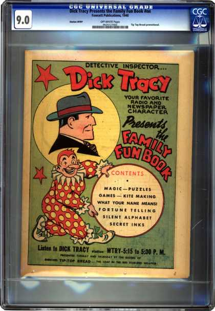 CGC Graded Comics - Dick Tracy Presents the Family Fun Book #nn (CGC) - Clown - Cop - Fedora - Polka Dot Suit - Funny Shoes