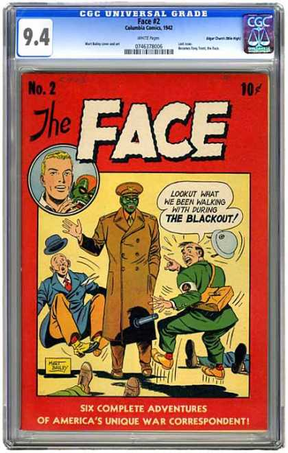 CGC Graded Comics - Face #2 (CGC) - The Face - Military - Army - Hat - Shock