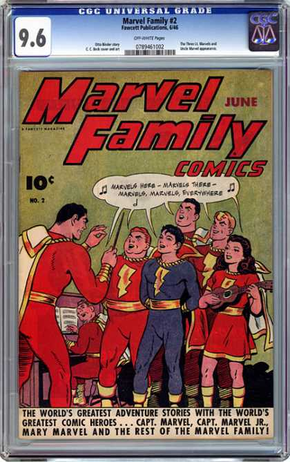 CGC Graded Comics - Marvel Family #2 (CGC) - Marvel Family 2 - Capt Marvel - Capt Marvel Jr - Mary Marvel - Marvel Family Comics