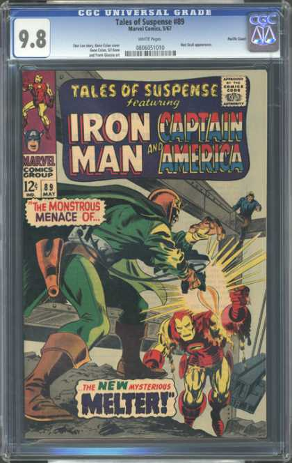 CGC Graded Comics - Tales of Suspense #89 (CGC) - Ironman - Captain America - Marvel Comics Group - Mysterious Melter - Suspense