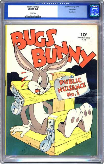 CGC Graded Comics - Four Color #33 (CGC) - Public - Nuisance - Padlock - Rabbit - Stocks