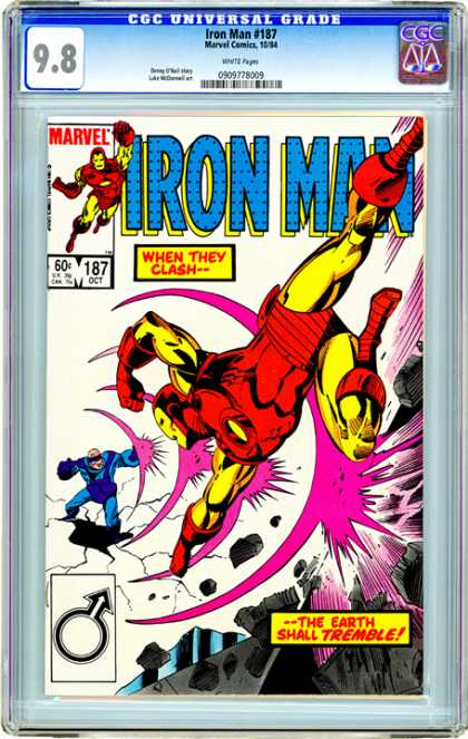 CGC Graded Comics - Iron Man #187 (CGC)