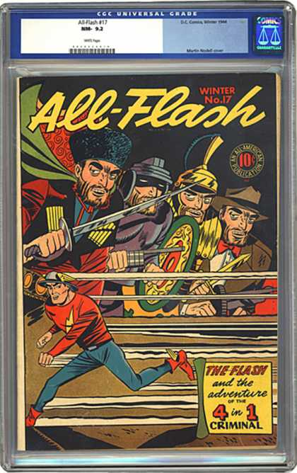 CGC Graded Comics - All-Flash #17 (CGC) - All-flash - Criminal - The Four Thieves - Running - Weapons