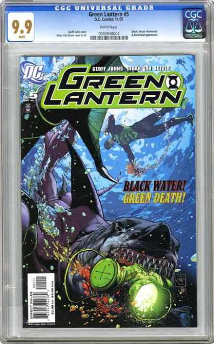 CGC Graded Comics - Green Lantern: Rebirth #5 (CGC) - Shark - Monsters - Diver - Action - Fricking