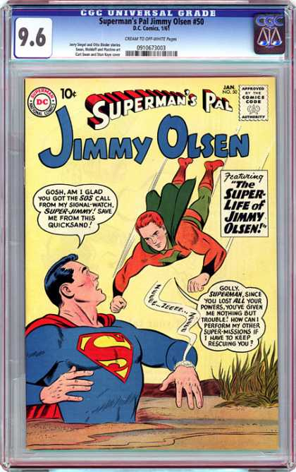 CGC Graded Comics - Superman's Pal Jimmy Olsen #50 (CGC) - Summer Pal - Jimmy Olsen - Superman - Swamp - Comics Code