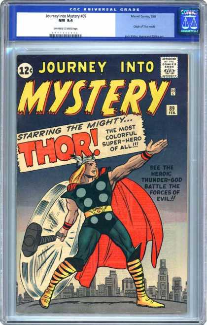 CGC Graded Comics - Journey Into Mystery #89 (CGC) - Golden Hair - Mystery - Red Cape - Skyline - Thor