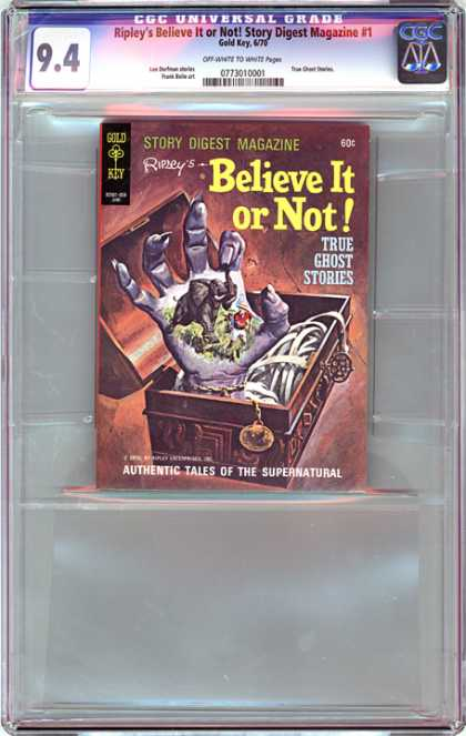 CGC Graded Comics - Ripley's Believe It or Not! Story Digest Magazine #1 (CGC) - Chest - Hand - Elephant - True Ghost Stories - Medals