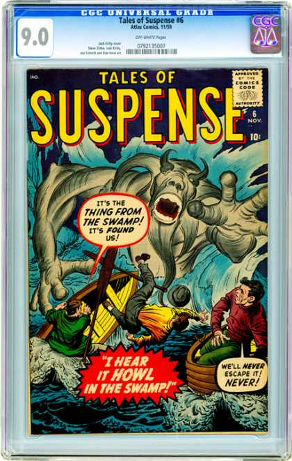 CGC Graded Comics - Tales of Suspense #6 (CGC) - Suspense Place - Boat - Two Man - Unknown Image - Sea