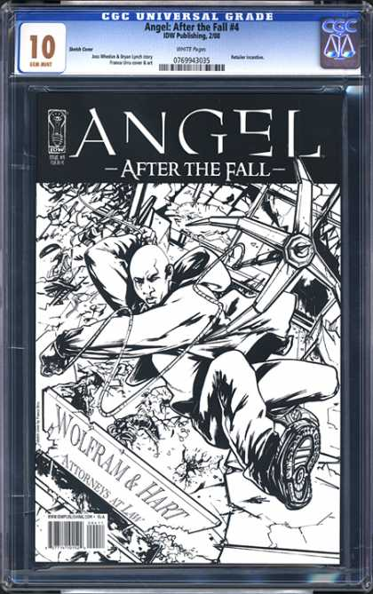CGC Graded Comics - Angel: After the Fall #4 (CGC) - Angel - After The Fall - Drawing - Black And White - Grapple Hook
