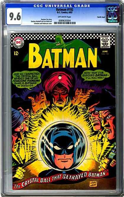 CGC Graded Comics - Batman #192 (CGC) - Fortune Teller - Crystal Ball - Green Batman - Red Turban - Fearsome Foursome