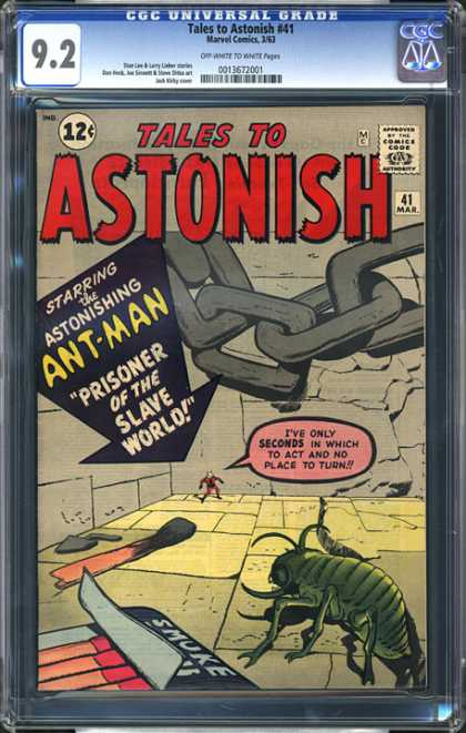 CGC Graded Comics - Tales to Astonish #41 (CGC) - Tales To Astonish - Ant-man - Slave World - Match Book - Green Beatle