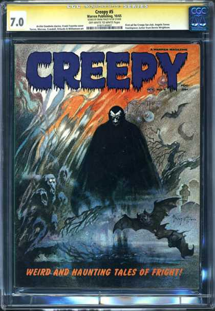 CGC Graded Comics - Creepy #5 (CGC) - Weird And Haunting Tales Of Fright - Ghost - The Moon - The Birds - Midnight