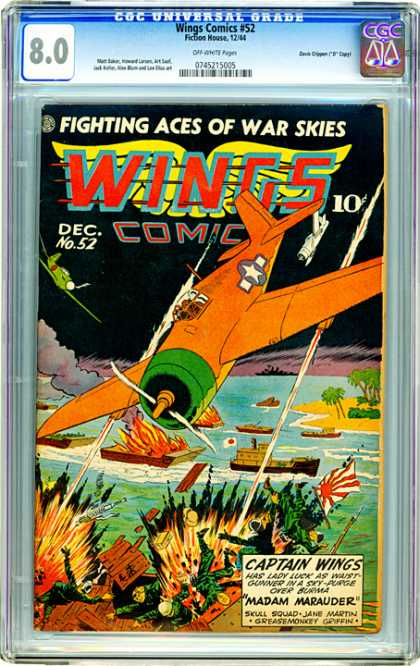 CGC Graded Comics - Wings Comics #52 (CGC)