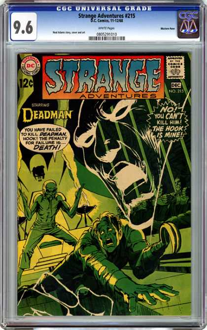 CGC Graded Comics - Strange Adventures #215 (CGC) - Stange Adventures - Deadman - Failure - Penalty - Kill Him