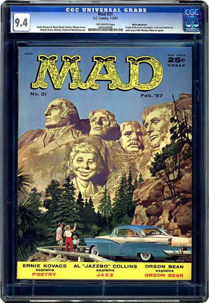 CGC Graded Comics - Mad #31 (CGC) - Cheap - Orson Bean - Poetry - Jazz - Ernie Kovacs