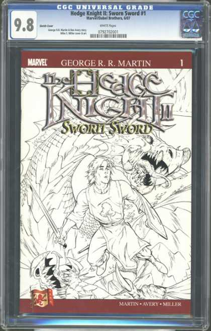 CGC Graded Comics - Hedge Knight II: Sworn Sword #1 (CGC) - Hedge Knight Ii - Sworn Sword - Dragons - Martin - Avery
