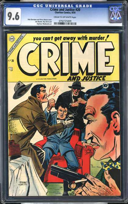 CGC Graded Comics - Crime and Justice #20 (CGC) - Crime And Justice - Punch - Gangsters - Guns - Detective