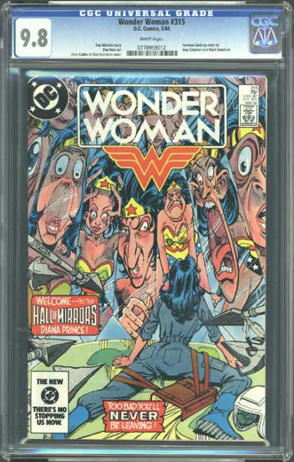 CGC Graded Comics - Wonder Woman #315 (CGC) - Woman - Mirrors - Faces - Hall - Dc