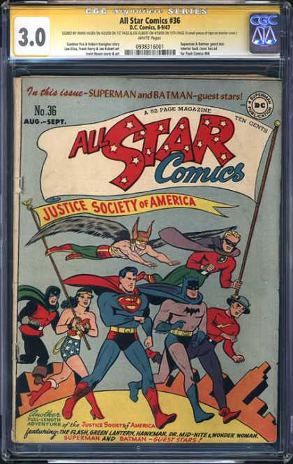 CGC Graded Comics - All Star Comics #36 (CGC)