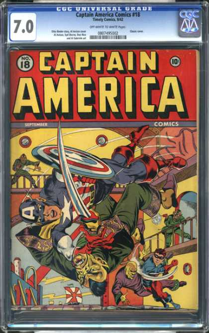 CGC Graded Comics - Captain America Comics #18 (CGC)