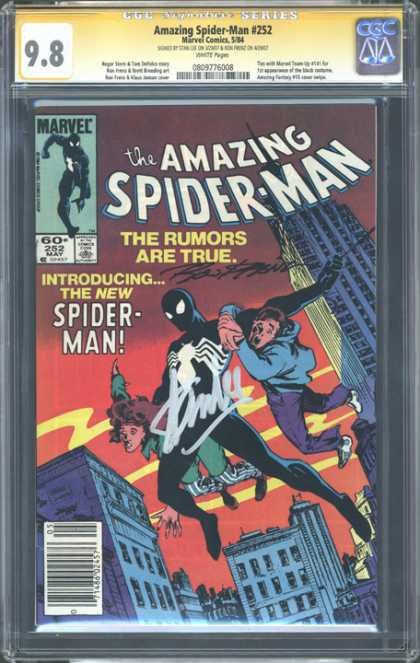 CGC Graded Comics - Amazing Spider-Man #252 (CGC) - Amazing Spider Man - Marvel Comics - Signed - The Rumors Are True - Red Sky