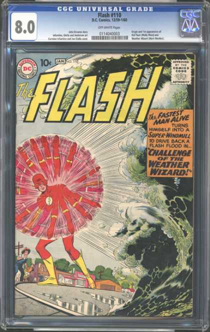 CGC Graded Comics - Flash #110 (CGC) - Flash - Weather Wizard - Super Windmill - Fastest Man Alive - Challenge