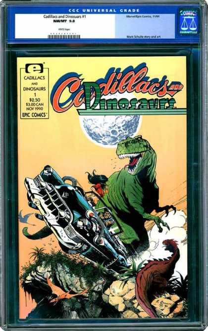 CGC Graded Comics - Cadillacs and Dinosaurs #1 (CGC) - Cadillacs And Dinosaurs - T-rex - Epic Comics - November 1990 - Moon