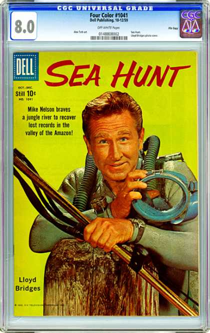 CGC Graded Comics - Four Color #1041 (CGC) - Sea Hunt - Four Color - Dell - Mike Nelson - Lloyd Bridges