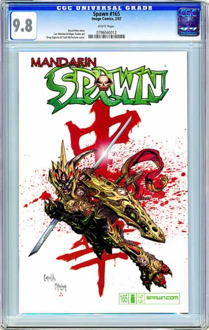 CGC Graded Comics - Spawn #165 (CGC) - Cgc Universal Grade - Mandarin - Blood - Ninja - Fightning