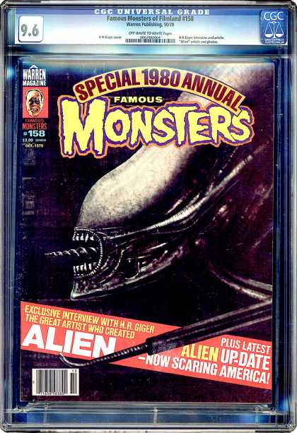 CGC Graded Comics - Famous Monsters of Filmland #158 (CGC) - Interview - Alien - Scaring - America - Artist